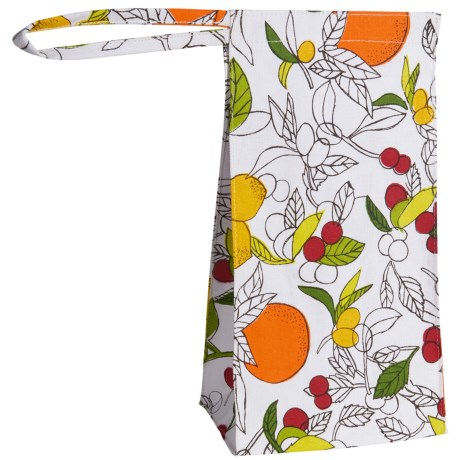 Tag Reusable Lunch Bag - Lined in Multi Citrus