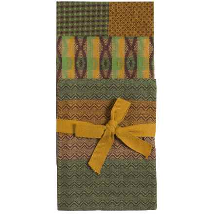 Tag Sheridan Cotton Dish Towels - 3-Pack in Green - Closeouts