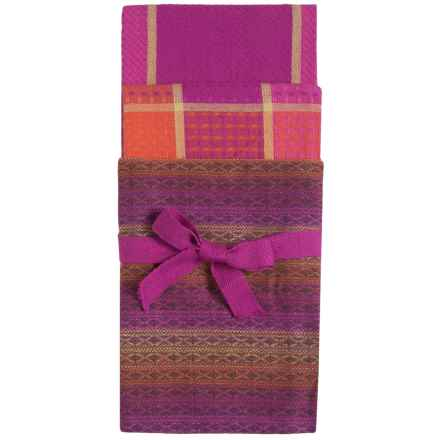 Tag Sheridan Cotton Dish Towels - 3-Pack in Purple - Closeouts