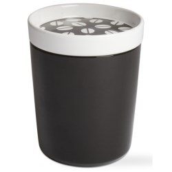 Tag Small Coffee Bean Canister in Black