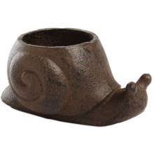 Tag Snail Tealight Candle Holder - Cast Iron in Chocolate - Closeouts