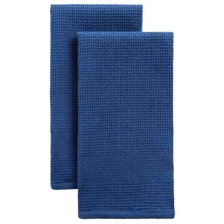 Tag Solid Reversible Dish Towel - Set of 2 in Blue - Closeouts
