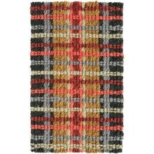 """Tag Spring Coir Entry Mat - 18x30"""" in Bright Woven Plaid - Closeouts"""