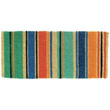 Tag Summer Stripe Estate Entry Mat - Coir in Multi - Closeouts