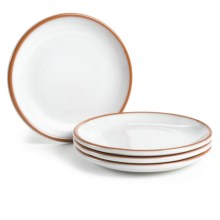 Tag Terra Glazed Appetizer Plates - Set of 4 in White - Closeouts
