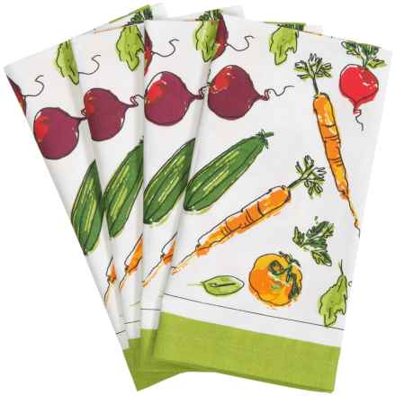 Tag Veggie Market Cotton Napkins - 4-Pack in Multi - Closeouts