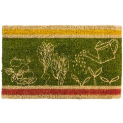Tag Veggies Entry Mat - Coir in Green