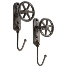 Tag Vintage Faucet Hooks - 2-Pack in Wagon Wheel - Closeouts