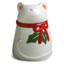 Tag Whimsy Mouse Cookie Jar in White - Closeouts