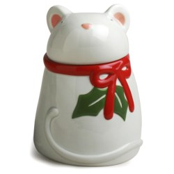 Tag Whimsy Mouse Cookie Jar in White