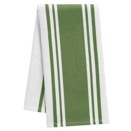 "Tag Wide Stripe Cotton Dish Towel - 20x28"" in Olive - Closeouts"