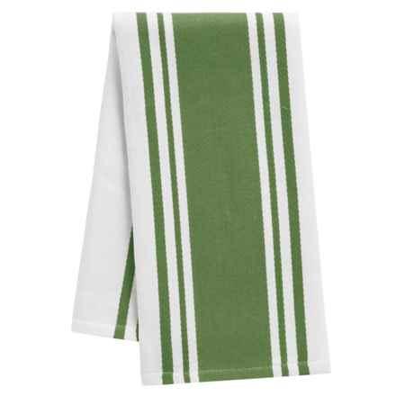 "Tag Wide Stripe Cotton Dish Towel - 20x28"" in Olive - Closeouts"