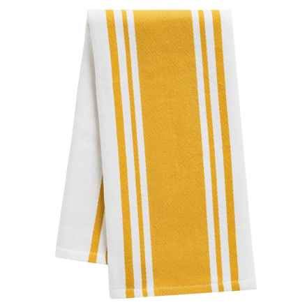 "Tag Wide Stripe Cotton Dish Towel - 20x28"" in Yellow - Closeouts"