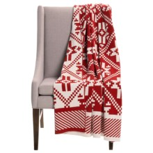 "Tag Woodlands Cotton Throw Blanket - 50x60"" in Red - Closeouts"