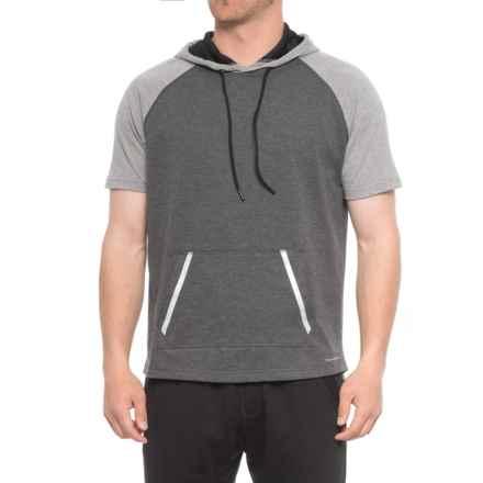 Tahari Active Active Great Run Hoodie - Short Sleeve (For Men) in Gray - Closeouts