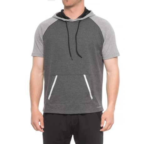 Tahari Active Active Great Run Hoodie - Short Sleeve (For Men) in Gray
