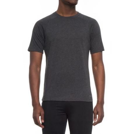 Tahari Active Active Great Run T-Shirt - Short Sleeve (For Men) in Black Melange