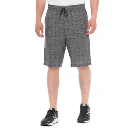 Tahari Active Printed Sprinter Shorts (For Men) in Charcoal - Closeouts