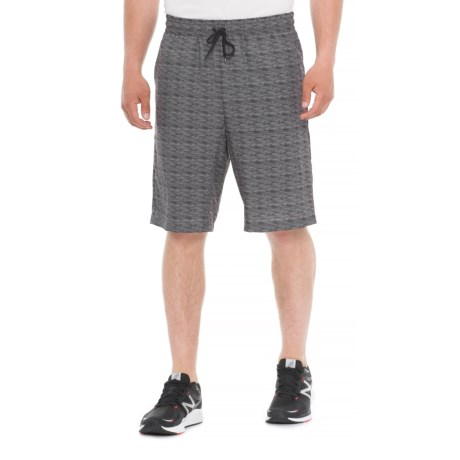 Tahari Active Printed Sprinter Shorts (For Men) in Charcoal