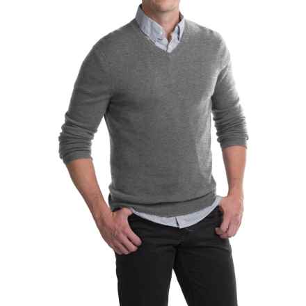 Tahari Basic V-Neck Cashmere Sweater (For Men) in Gargoyle Grey - Closeouts