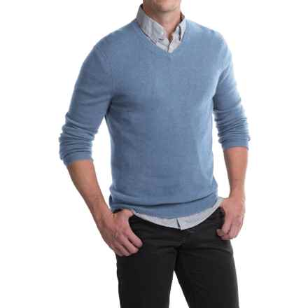 Tahari Basic V-Neck Cashmere Sweater (For Men) in Turtle Dove - Closeouts