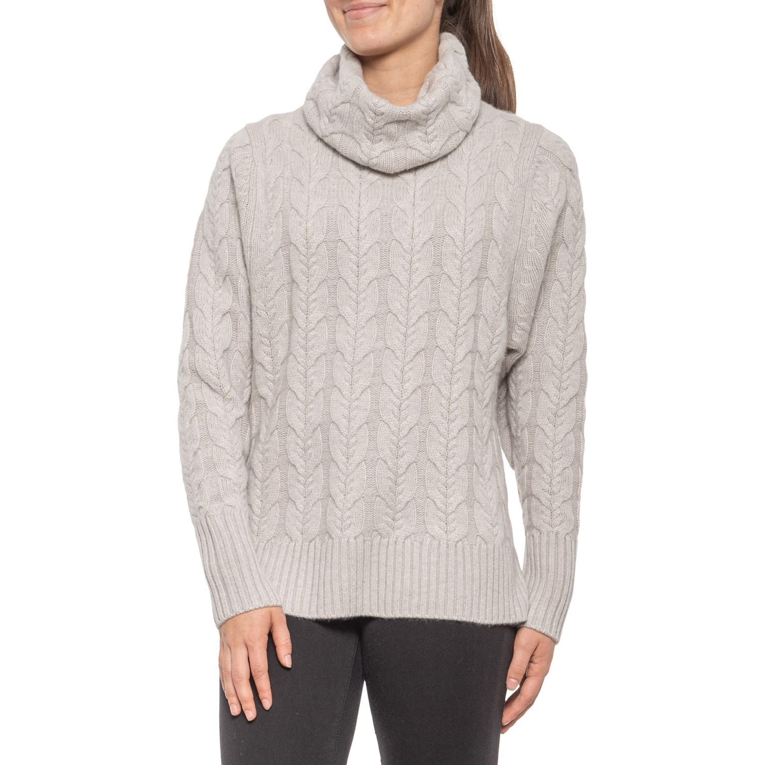Tahari Big Cable Cowl Neck Sweater (For Women)