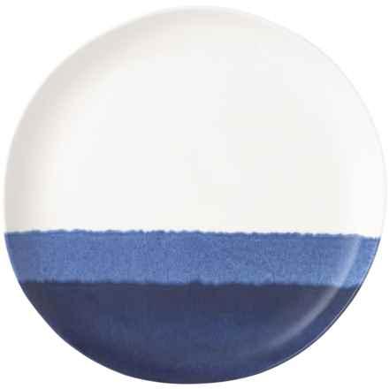 Tahari Blue Tide Drip-Glaze Melamine Dinner Plate in Blue/White - Overstock