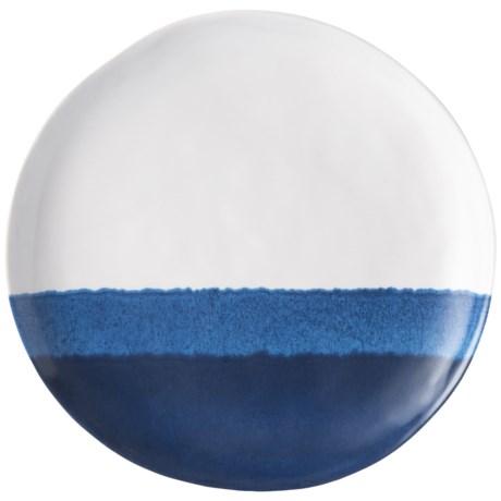 Tahari Blue Tide Drip Glaze Salad Plate - Melamine in Blue/White