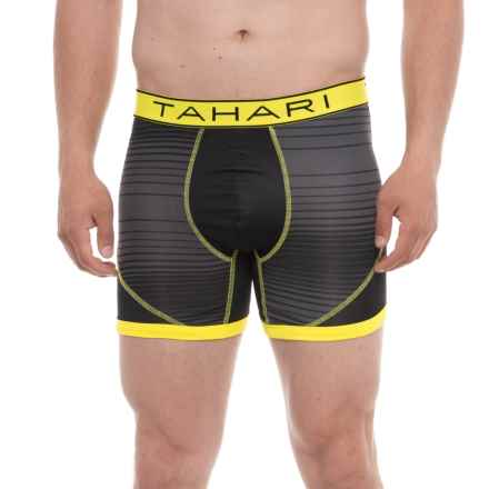 Tahari Boxer Briefs - Asphalt/Safety Yellow (For Men) in Asphalt/Saftey Yellow - Closeouts
