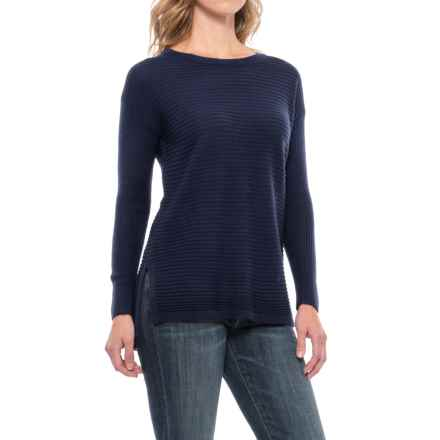 Tahari Button-Back Sweater - Merino Wool (For Women) in Dark Denim Heather - Closeouts