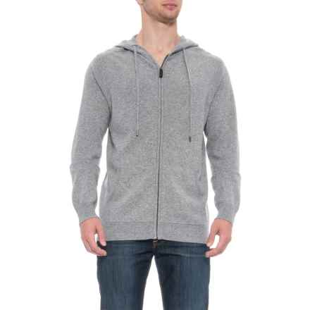 Tahari Cardigan Sweater with Textured Shoulders - Full Zip, Long Sleeve (For Men) in Steeple Grey Heather - Closeouts