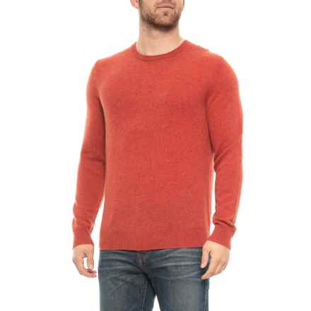 Tahari Cashmere Pullover Sweater - Crew Neck (For Men) in Burnt Sienna - Closeouts