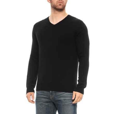 Tahari Cashmere Pullover Sweater - V-Neck (For Men) in Black - Closeouts