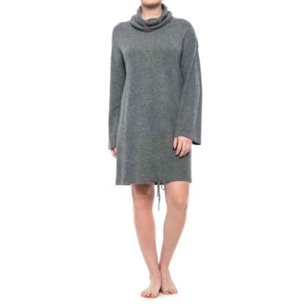 Tahari Cashmere Scrunch Nightshirt - 3/4 Sleeve (For Women) in Smog Heather - Closeouts