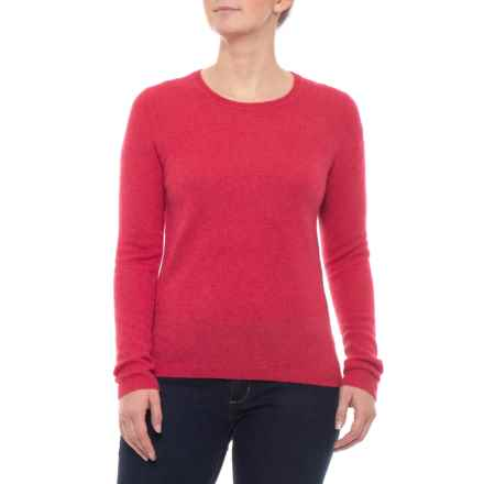 Tahari Cashmere Sweater - Crew Neck (For Women) in Salmon Heather - Closeouts