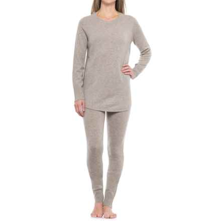 Tahari Cashmere Textured Tunic Sweater and Leggings Lounge Set (For Women) in Forrest Taupe - Closeouts