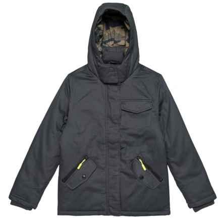 Tahari Cotton Twill Jacket - Insulated (For Big Boys) in Ebony - Closeouts