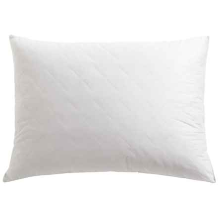 Tahari Diamond Quilt Feather Pillow - Super Standard, 230 TC Cotton in White - Closeouts