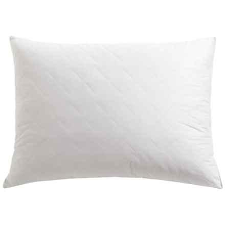 Tahari Diamond Quilt Feather Pillow - Super Standard, 230 TC Cotton in White - Closeouts