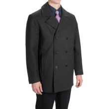 Tahari Double-Breasted Peacoat - Waterproof, Insulated, Wool Blend (For Men) in Charcoal - Closeouts