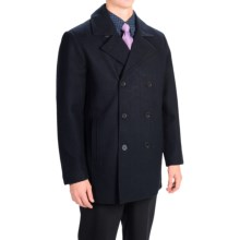 Tahari Double-Breasted Peacoat - Waterproof, Insulated, Wool Blend (For Men) in Navy - Closeouts