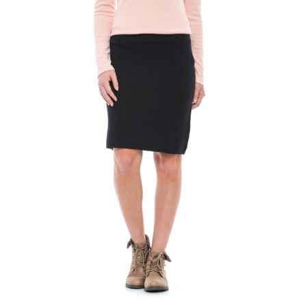 Tahari Double Knit A-Line Ottoman Skirt (For Women) in Black - Closeouts
