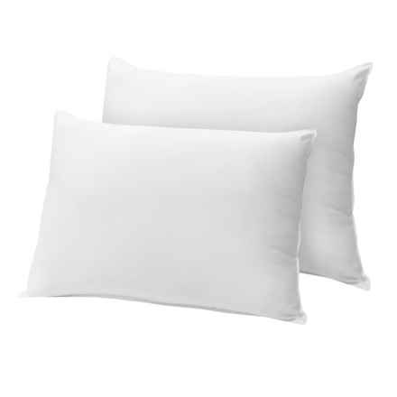 Tahari Down Alternative Pillows - King, 300 TC Egyptian Cotton, 2-Pack in White - Closeouts