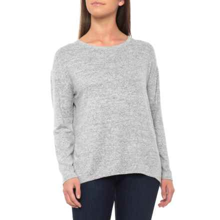 Tahari Drop Shoulder Hi-Lo Shirt - Long Sleeve (For Women) in Cozy Light Grey - Closeouts