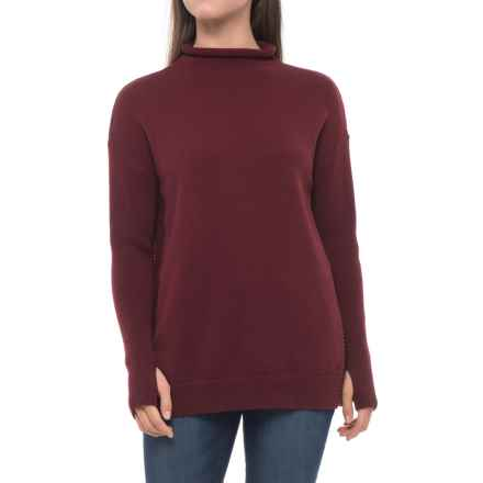 Tahari Funnel Neck Sweater (For Women) in Cranberry Solid - Closeouts