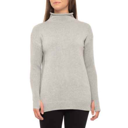 Tahari Funnel Neck Sweater (For Women) in Grey Heather - Closeouts