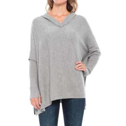 Tahari Hooded Cashmere Poncho (For Women) in Steeple Grey Heather - Closeouts