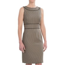 Tahari Houndstooth Dress - Sleeveless (For Women) in Black/Taupe - Closeouts