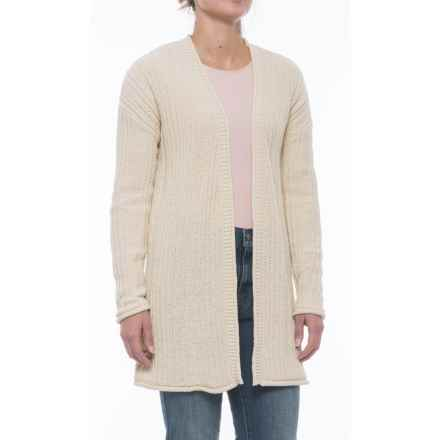 Tahari Long Cardigan Sweater - Open Front (For Women) in Buttercream - Closeouts