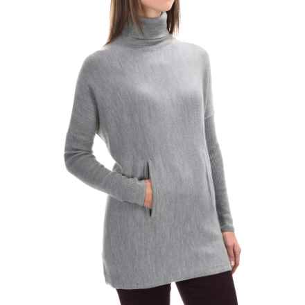 Tahari Merino Wool Turtleneck Sweater (For Women) in Medium Heather Grey - Closeouts